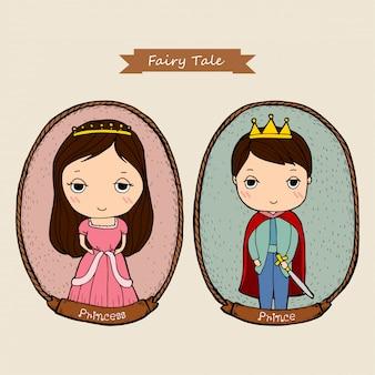 Karikatur-märchenpaar