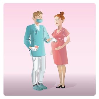 Karikatur medizin design konzept