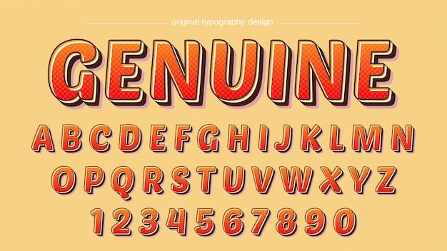 Karikatur-mutige rote orange typografie