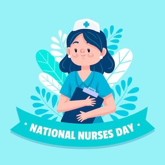 Karikatur nationale krankenschwestern tag illustration