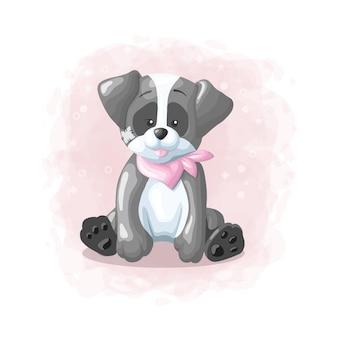 Karikatur-netter hundeillustrations-vektor