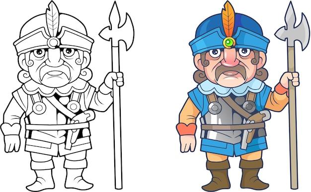 Karikatur polnischer soldat illustration