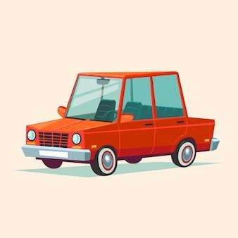 Karikatur rotes auto