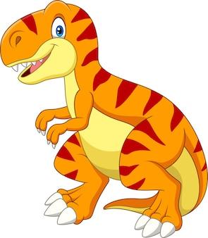 Karikatur tyrannosaurus lokalisiert auf weißem hintergrund