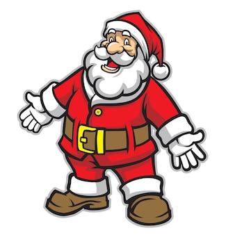 Karikatur von Weihnachtsmann