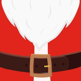 Karikatur-weihnachtsmann-bauch, weihnachtspostkarte