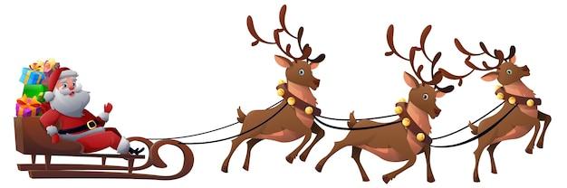 Karikatur-weihnachtsmann mit geschenken
