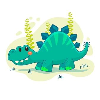 Karikaturbabydinosaurier illustriert