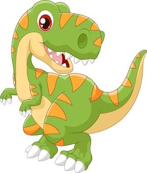 Karikaturdinosaurier tyrannosaurus schauen zur seite