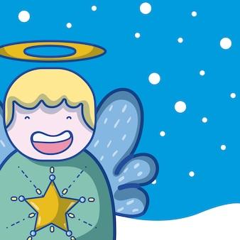 Karikaturen der frohen weihnachten