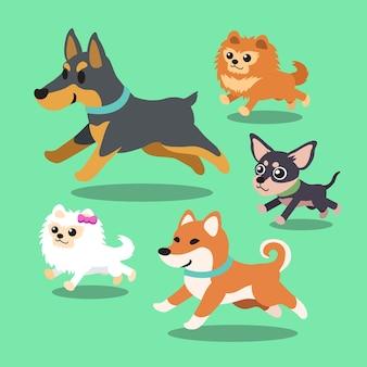 Karikaturhunde, die sammlung laufen lassen