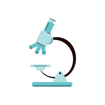 Karikaturikone des labormikroskopzeichens