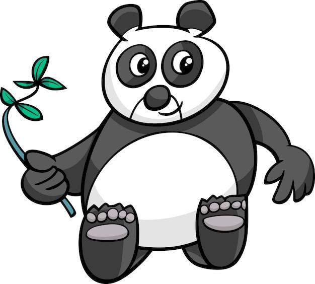 Karikaturillustration des riesigen pandas