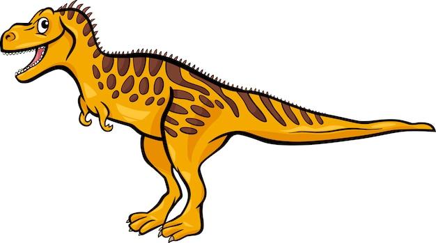 Karikaturillustration des tarbosaurusdinosauriers