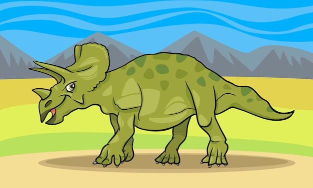 Karikaturillustration des triceratopsdinosauriers