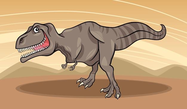 Karikaturillustration des tyrannosaurusdinosauriers