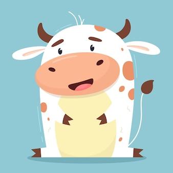 Karikaturillustration einer kuh