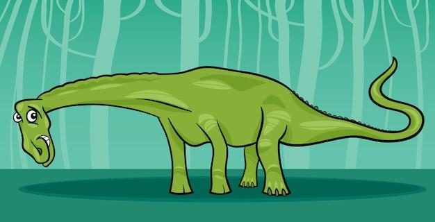 Karikaturillustration von diplodocusdinosaurier