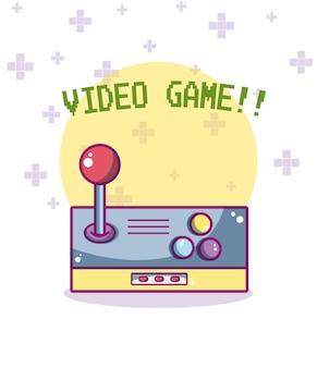 Karikaturkarikaturkonzeptvektorillustrations-grafikdesign des videogames retro-