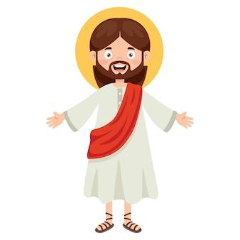 Karikaturzeichnung von jesus christus
