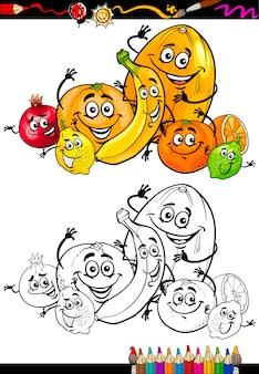 Karikaturzitrusfrüchte für malbuch