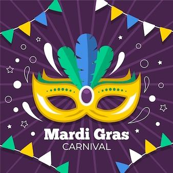 Karneval-event mit maske und federn