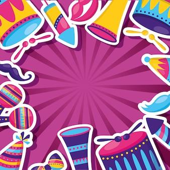 Karneval festliche feier