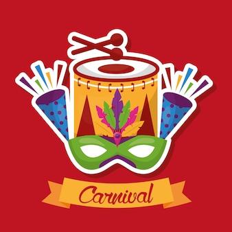 Karneval festliche karte