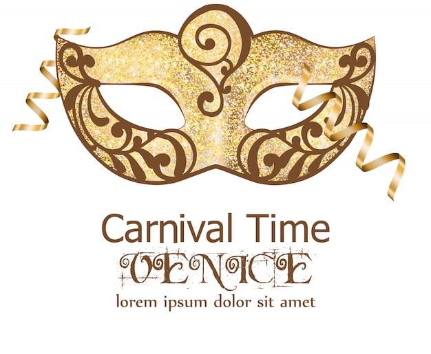 Karneval glitter maske