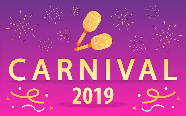 Karneval. inschrift karneval auf rosa hintergrund.