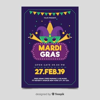 Karneval karneval flyer vorlage