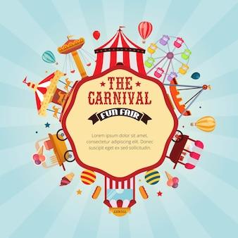Karneval kirmes designvorlage