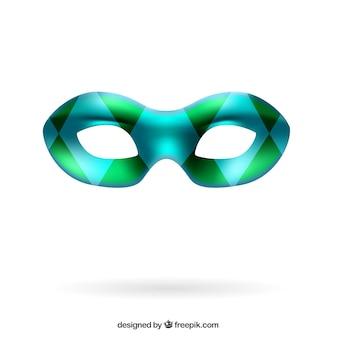 Karneval maske in harlekin stil