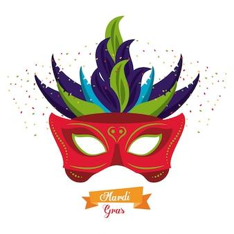 Karneval maske symbol