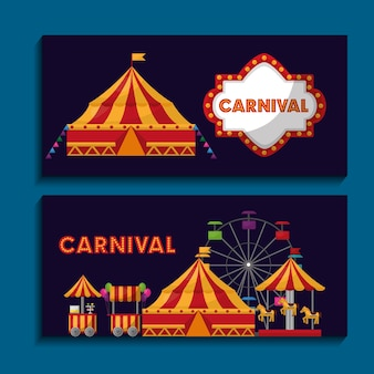 Karneval messe festival banner einladung