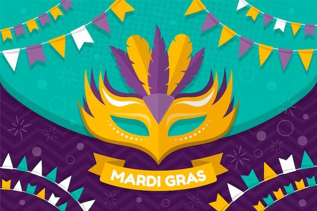 Karneval mit maske und federn