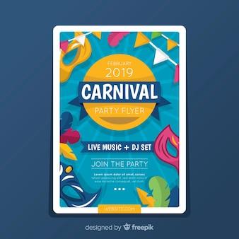 Karneval party flyer vorlage