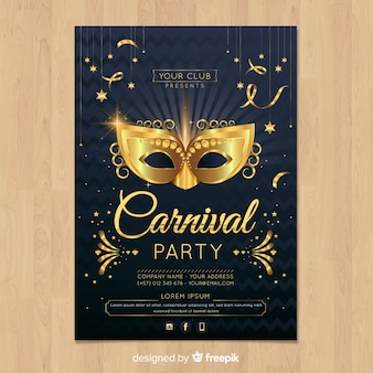 Karneval party flyer vorlage