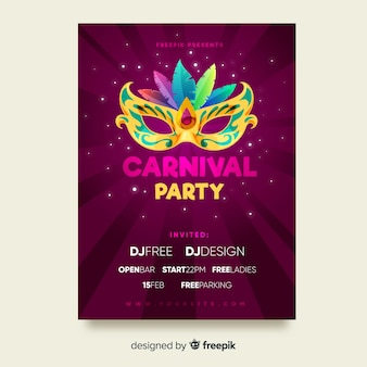 Karneval-party-flyer