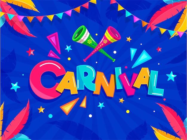 Karneval party hintergrund.