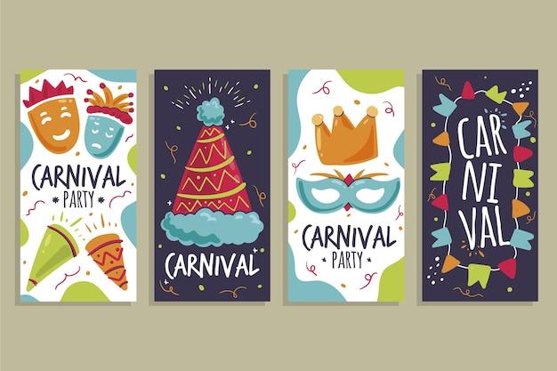 Karneval party instagram geschichten sammlung
