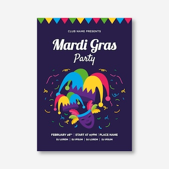 Karneval party poster flyer vorlage