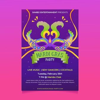 Karneval party poster flyer vorlage
