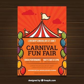 Karneval poster vorlage mit zelt