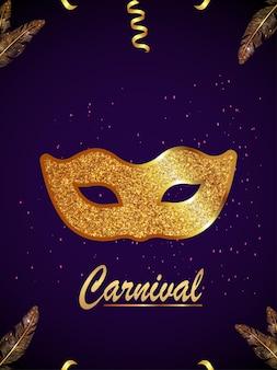 Karneval realistische einladungsgrußkarte