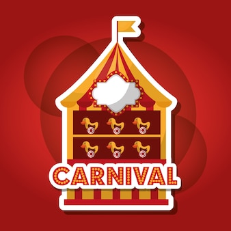 Karneval schießen spiel enten stand