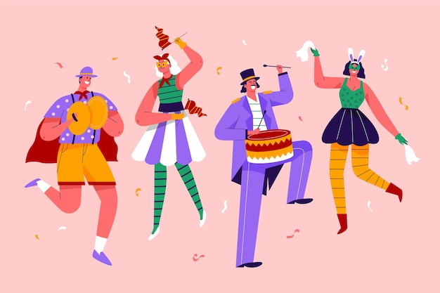 Karneval tänzer sammlung