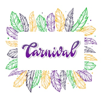 Karneval typografie inschrift