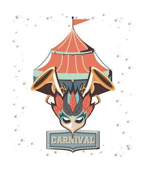 Karneval zirkus zelt symbol vektor-illustration design
