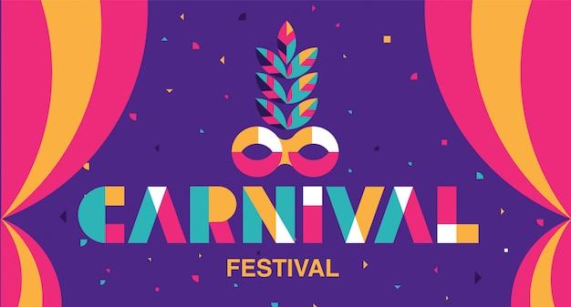 Karnevals-typografie, populäres ereignis in brasilien.